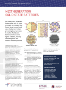 Solid State Batteries – The Faraday Institution